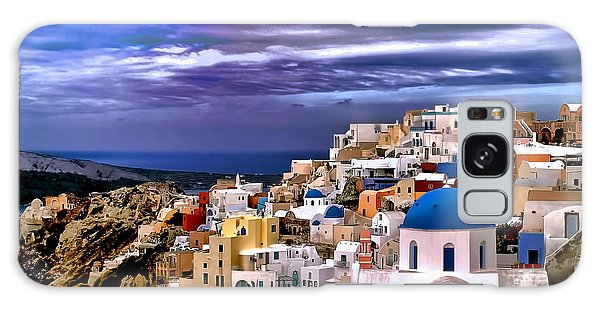 The Greek Isles Santorini Galaxy Case by Tom Prendergast