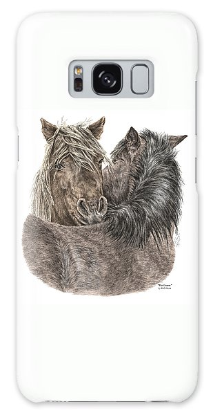 The Groom - Chincoteague Pony Print - Color Tinted Galaxy Case