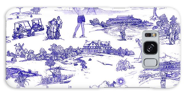 The Hamptons Historical Golf Courses Galaxy Case by Kimberly McSparran