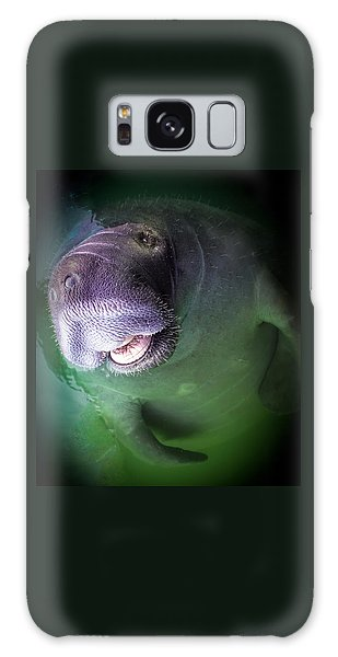 The Happy Manatee Galaxy Case by Karen Wiles