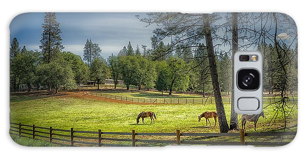 The Horses Of Placerville Galaxy Case by Janis Knight