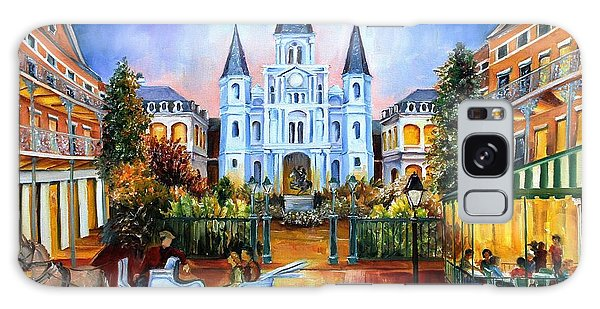 Square Galaxy Case - The Hours On Jackson Square by Diane Millsap