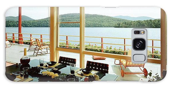 Outdoor Dining Galaxy Case - The House Of Mr. And Mrs. Alfred Rose On Lake by Robert M. Damora