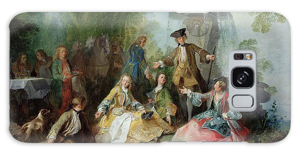 Picnic Table Galaxy Case - The Hunting Party Meal, C. 1737 Oil On Canvas by Nicolas Lancret