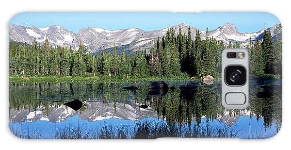 Indian Peaks Wilderness Galaxy Case - The Indian Peaks Reflected In Red Rock by Panoramic Images