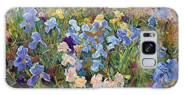 Flowerbed Galaxy Case - The Iris Bed by Timothy Easton