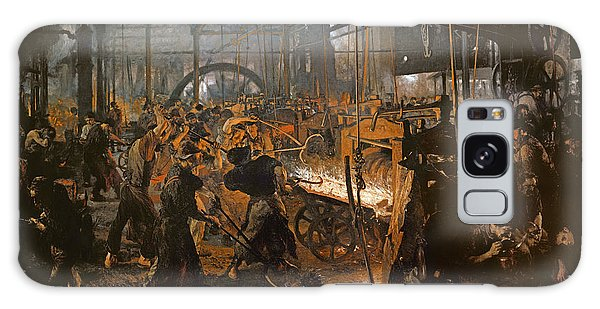 The Iron-rolling Mill Oil On Canvas, 1875 Galaxy Case