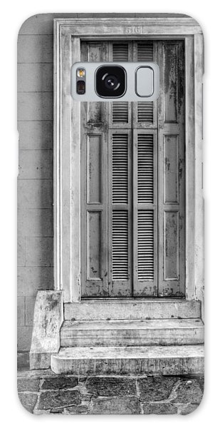 The Jackson House Door In Black And White Galaxy Case