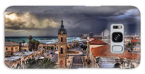 the Jaffa old clock tower Galaxy Case