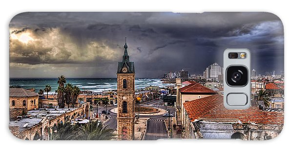 the Jaffa old clock tower Galaxy Case by Ronsho