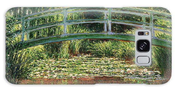 The Japanese Footbridge And The Water Lily Pool Giverny Galaxy Case by Claude Monet