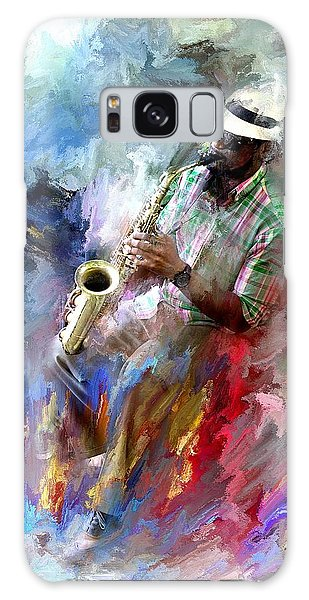 The Jazz Player Galaxy Case by Evie Carrier