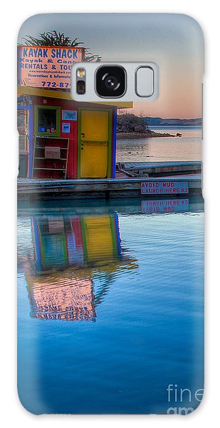 The Kayak Shack Morro Bay Galaxy Case by Terry Garvin