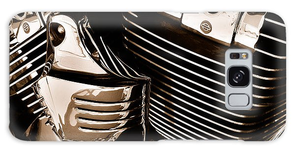 The King - Harley Davidson Road King Engine Galaxy Case by Steven Milner