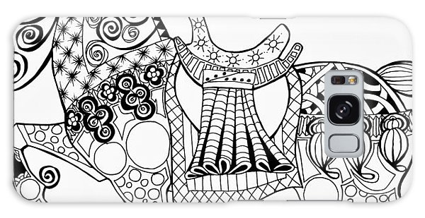 The King's Horse - Zentangle Galaxy Case by Jani Freimann