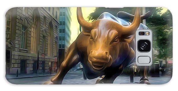 The Landmark Charging Bull In Lower Manhattan 2 Galaxy Case