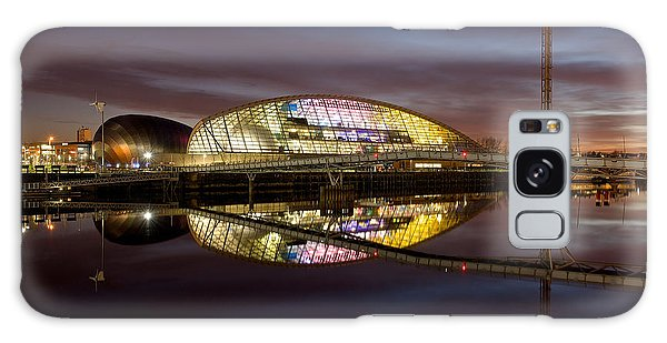 The Last Of The Light At The Glasgow Science Centre Galaxy Case by Stephen Taylor