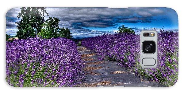 The Lavender Field Galaxy Case by Thom Zehrfeld