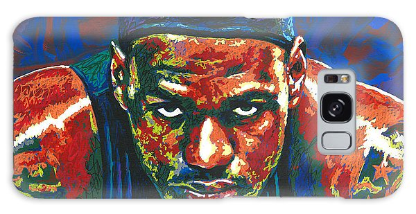 B B King Galaxy Case - The Lebron Death Stare by Maria Arango