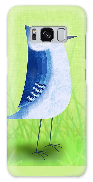 Bluebird Galaxy Case - The Letter Blue J by Valerie Drake Lesiak