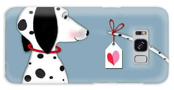 Dog Galaxy S8 Case - The Letter D For Dalmatian by Valerie Drake Lesiak