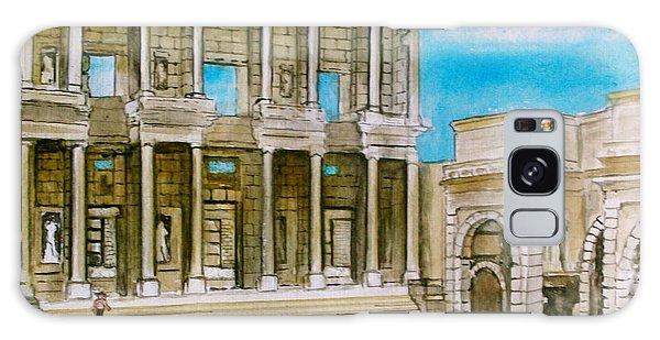 The Library At Ephesus Turkey Galaxy Case