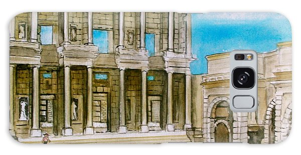 The Library At Ephesus Turkey Galaxy Case by Frank Hunter