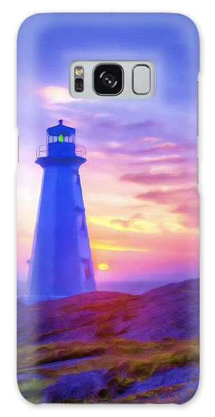 The Lighthouse At Sunset Galaxy Case