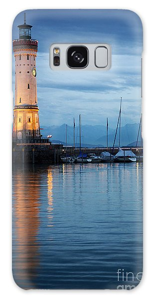 The Lighthouse Of Lindau By Night Galaxy Case by Nick  Biemans