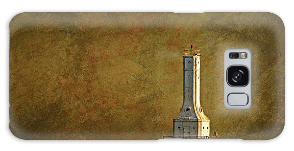The Lighthouse - Port Washington Galaxy Case by Mary Machare