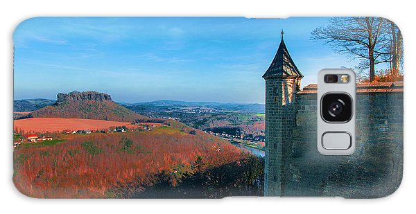 The Lilienstein Behind The Fortress Koenigstein Galaxy Case