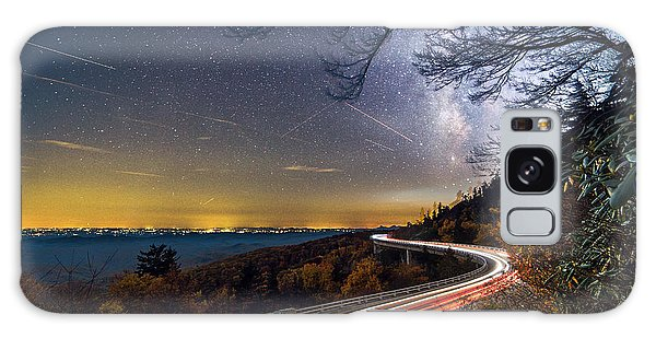 The Linn Cove Viaduct Milky Way Light Trails Galaxy Case