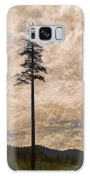 The Lone Survivor Stands In Tranquility Galaxy Case by Peggy Collins