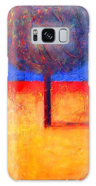 The Lonely Tree In Autumn Galaxy Case