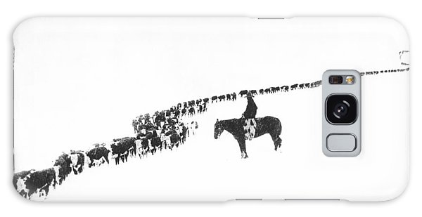 Cold Day Galaxy Case - The Long Long Line by Underwood Archives  Charles Belden