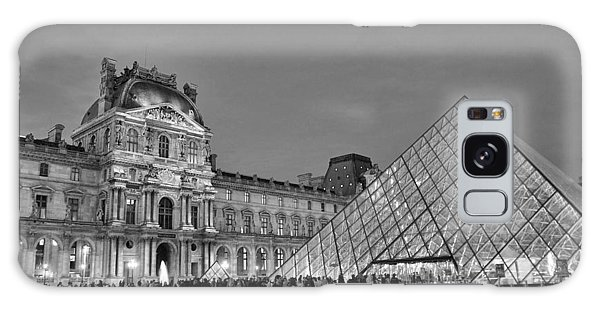 The Louvre Black And White Galaxy Case by Allen Beatty