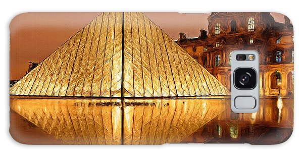 Louvre Galaxy S8 Case - The Louvre By Night by Inspirowl Design