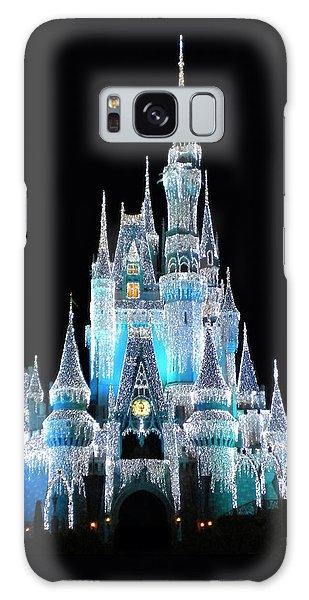 The Magic Kingdom Castle In Frosty Light Blue Walt Disney World Galaxy Case