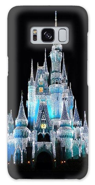 The Magic Kingdom Castle In Frosty Light Blue Walt Disney World Galaxy Case by Thomas Woolworth