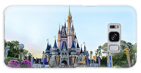 The Magic Kingdom Castle On A Beautiful Summer Day Horizontal Galaxy Case by Thomas Woolworth