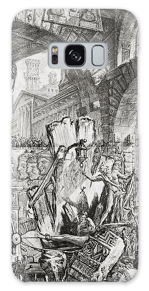 Dungeon Galaxy Case - The Man On The Rack Plate II From Carceri D'invenzione by Giovanni Battista Piranesi