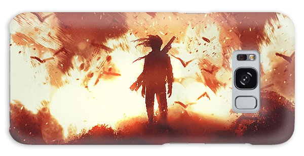 Concept Galaxy Case - The Man With A Gun Standing Against by Tithi Luadthong
