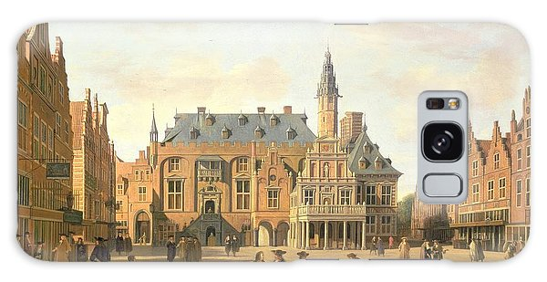 Town Square Galaxy Case - The Market Place With The Raadhuis, Haarlem, 17th Century by Gerrit Adriaensz Berckheyde