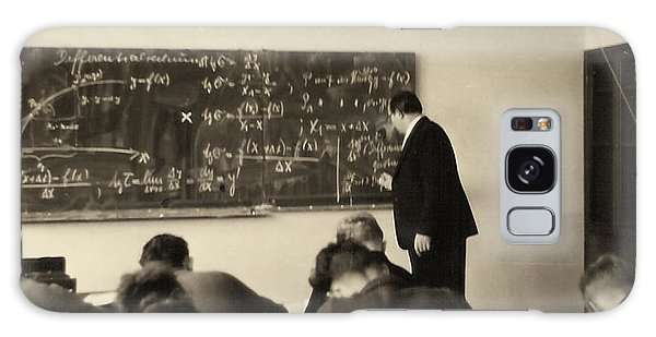 Galaxy Case featuring the photograph Year 1956 The Math Teacher  by Gerlinde Keating - Galleria GK Keating Associates Inc