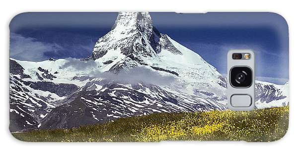 The Matterhorn With Alpine Meadow In Foreground Galaxy Case