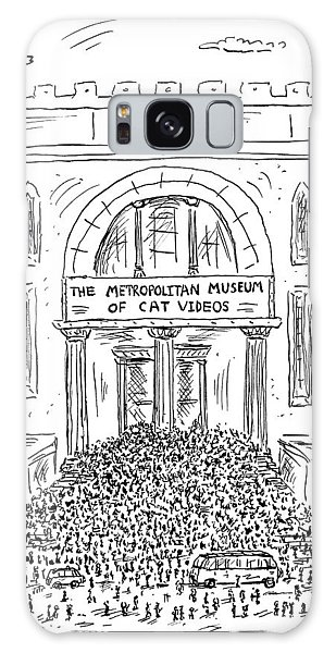 The Metropolitan Museum Of Cat Videos Thronged Galaxy S8 Case