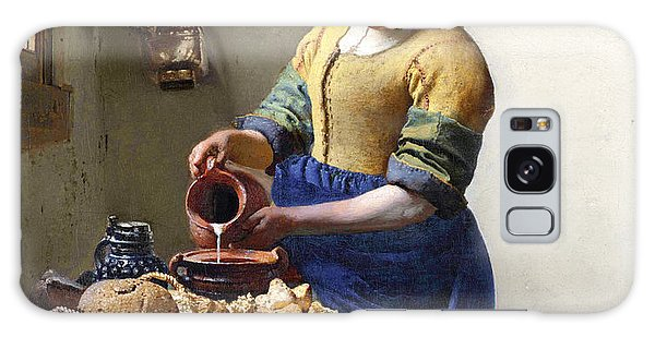 Jan Vermeer Galaxy Case - The Milkmaid by Jan Vermeer