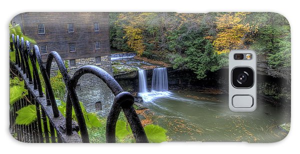 The Mill And Falls At Mill Creek Park Galaxy Case