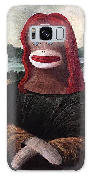 The Monkey Lisa Galaxy Case by Randy Burns