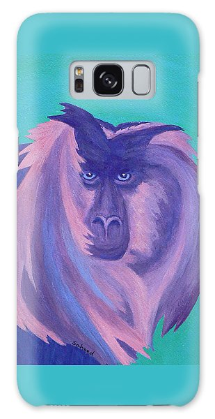 The Monkey's Mane Galaxy Case by Margaret Saheed